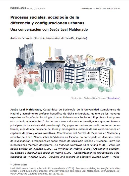 Procesos sociales, sociología de la diferencia y configuraciones urbanas. Una conversación con Jesús Leal Maldonado