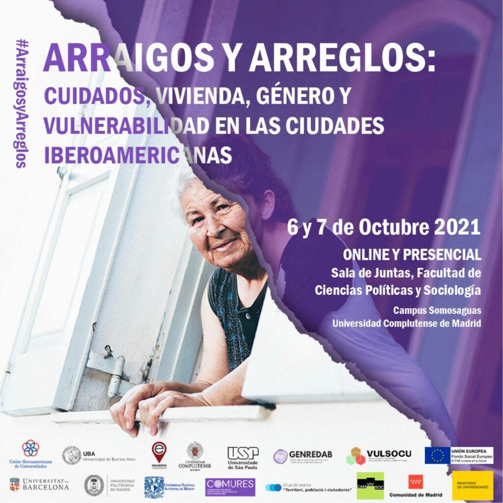 """Conferencia Internacional COMURES/GENREDAB – """"Arraigos y Arreglos: Cuidados, vivienda, género y vulnerabilidad en las ciudades iberoamericanas""""."""
